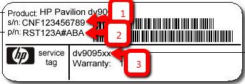 HP-find-model-og-serie-nummer