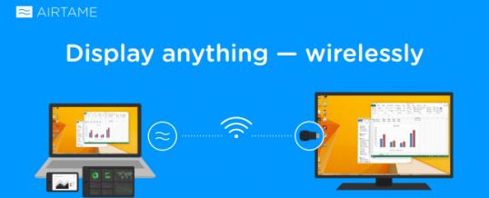 AIRTAME – Trådløs overførelse af skærm, video, netflix til TV eller Projektor.