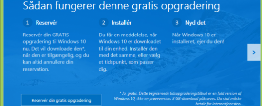 Download og installer den nye Windows 10