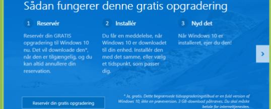 Download og installer den nye Windows 10