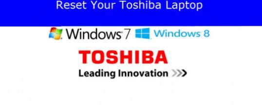 Gendan/Nulstil din Toshiba Bærbar til fabriksindstillingerne
