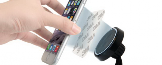 Mobil eller Tablet holder til bilen magnet (eSTUFF MagnIQ)