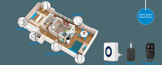 Alarm- & Overvågning til hjemmet (Uden abonnement)